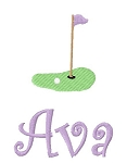 Golf Green Burp Cloth
