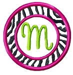 Zebra Monogram Burp Cloth